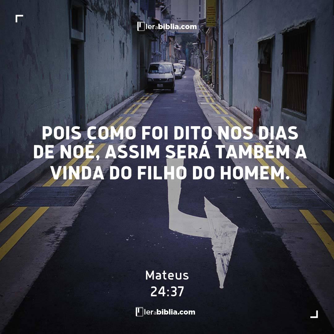 Read more about the article Pois como foi dito nos dias de Noé, assim será também a vinda do Filho do homem. – Mateus