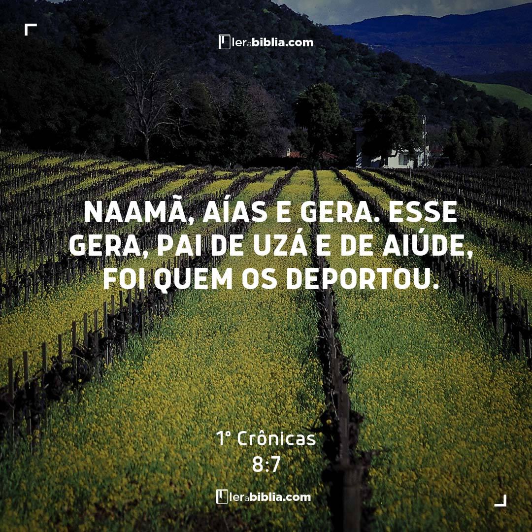 1º Crônicas - 8 - 7 - Naamã