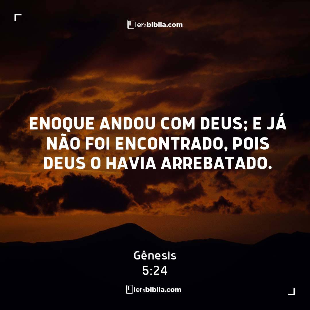 Enoque andou com Deus; e já não foi encontrado, pois Deus o havia arrebatado. – Gênesis