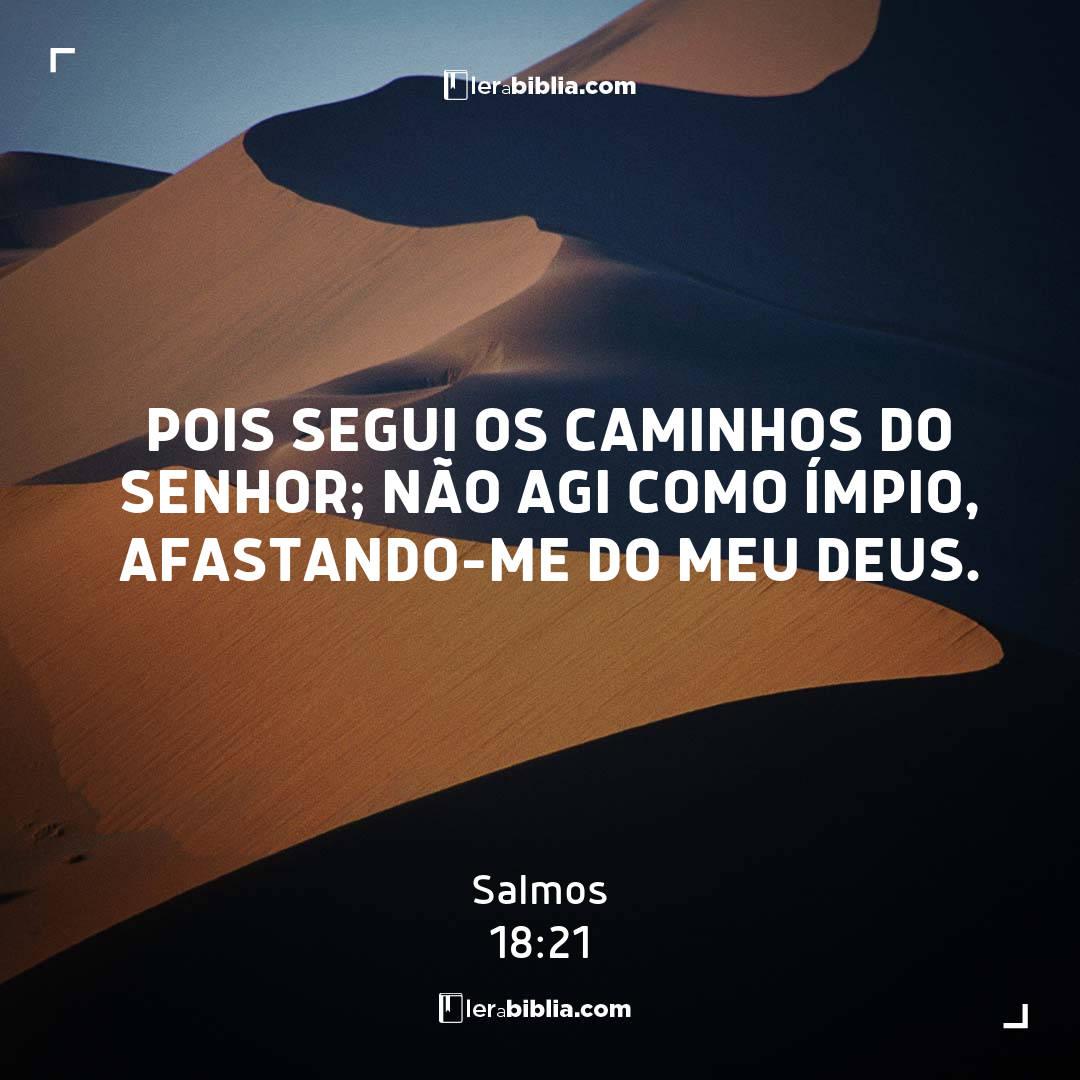 Pois segui os caminhos do Senhor; não agi como ímpio, afastando-me do meu Deus. – Salmos