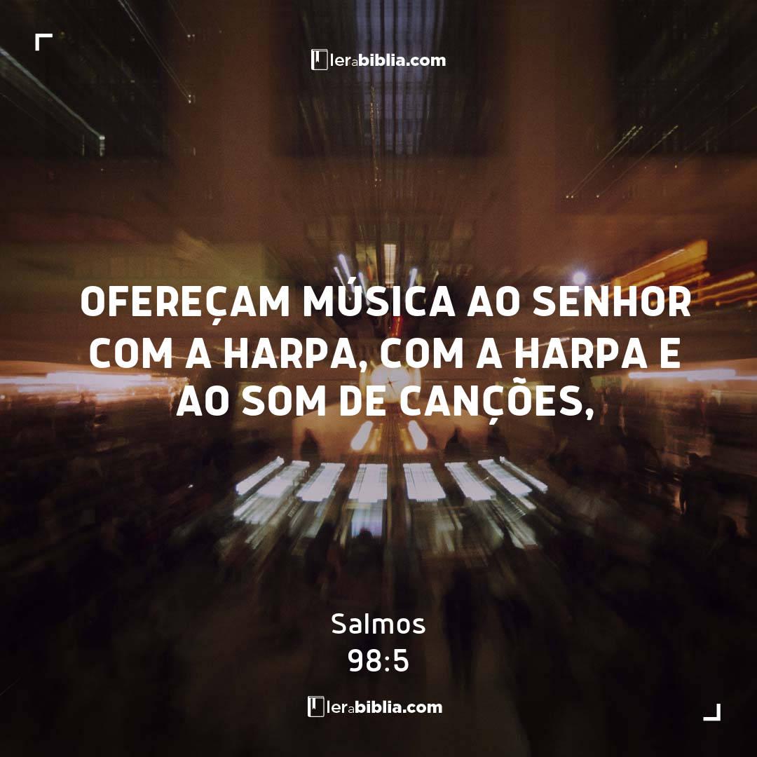 Salmos - 98 - 5 - Ofereçam música ao Senhor com a harpa