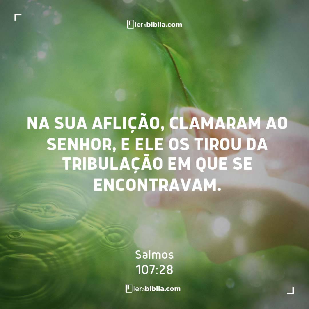 Na sua aflição, clamaram ao Senhor, e ele os tirou da tribulação em que se encontravam. – Salmos
