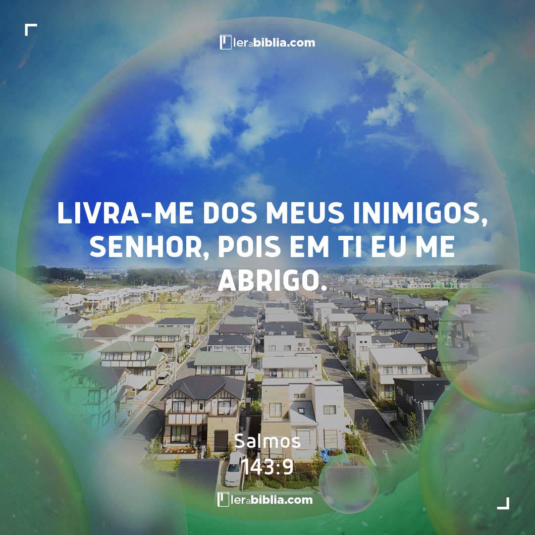Salmos - 143 - 9 - Livra-me dos meus inimigos