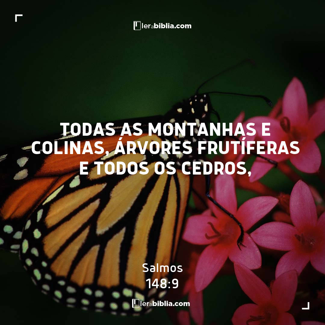 todas as montanhas e colinas, árvores frutíferas e todos os cedros, – Salmos