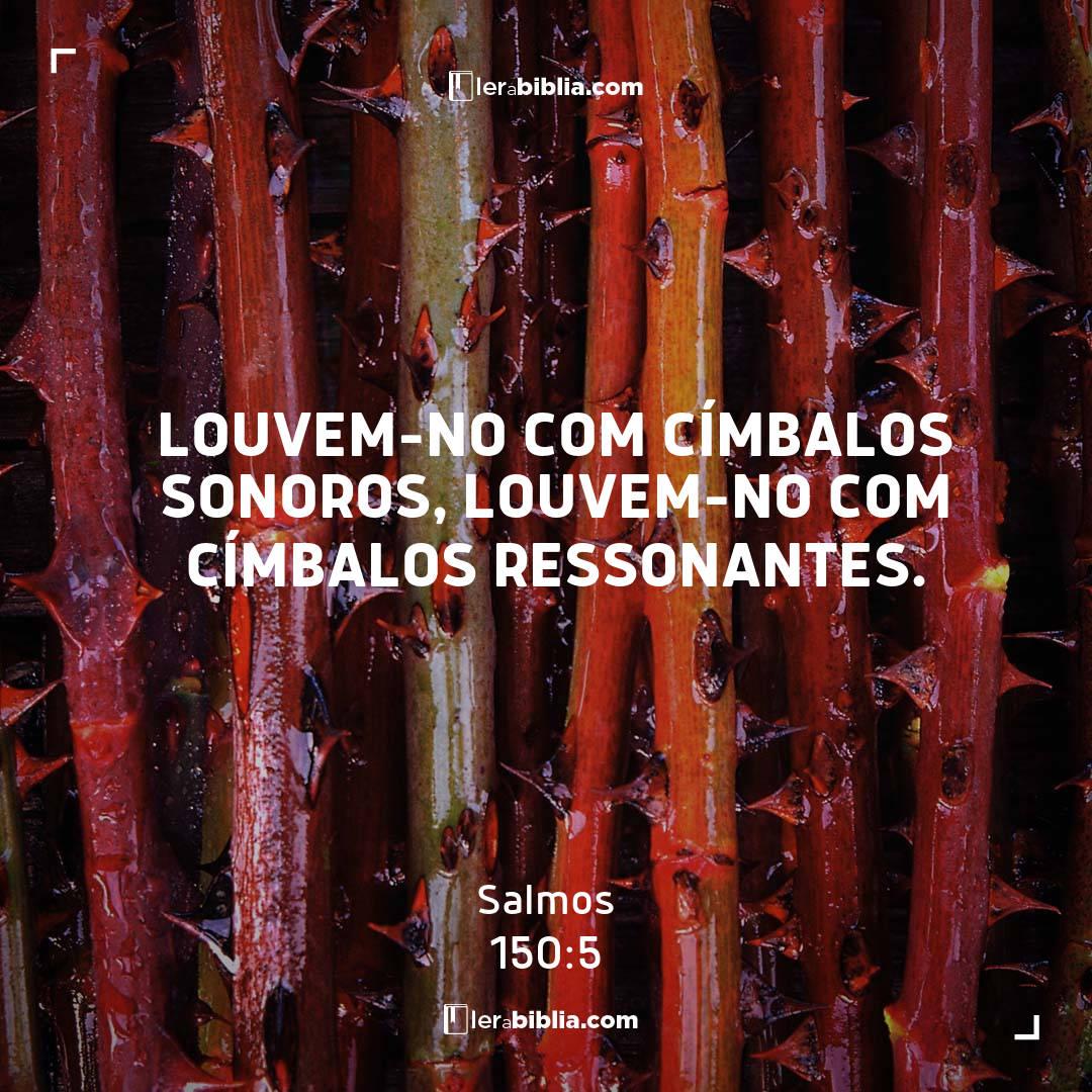 Salmos - 150 - 5 - louvem-no com címbalos sonoros