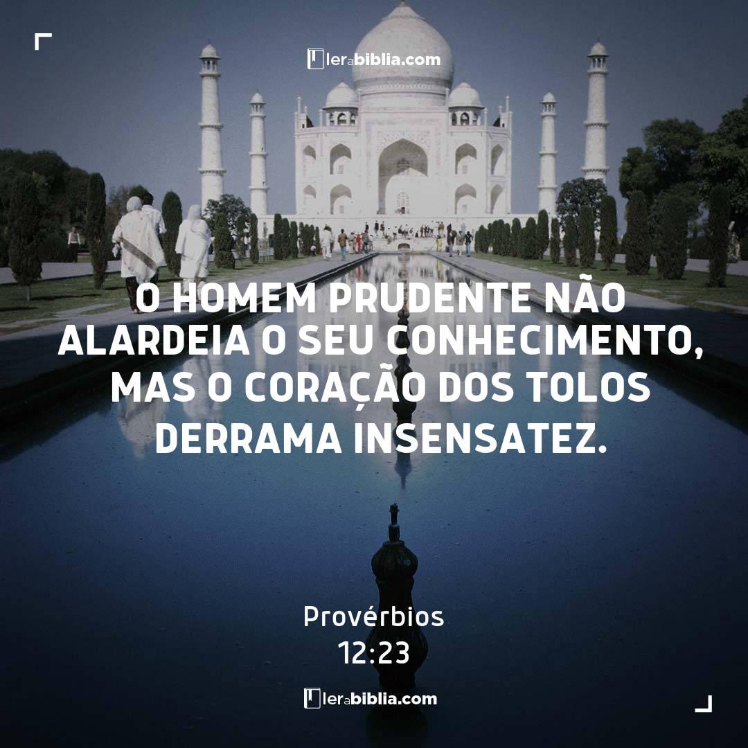 O homem prudente não alardeia o seu conhecimento, mas o coração dos tolos derrama insensatez. – Provérbios