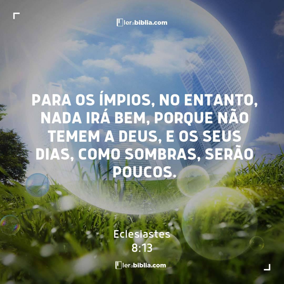 Eclesiastes - 8 - 13 - Para os ímpios