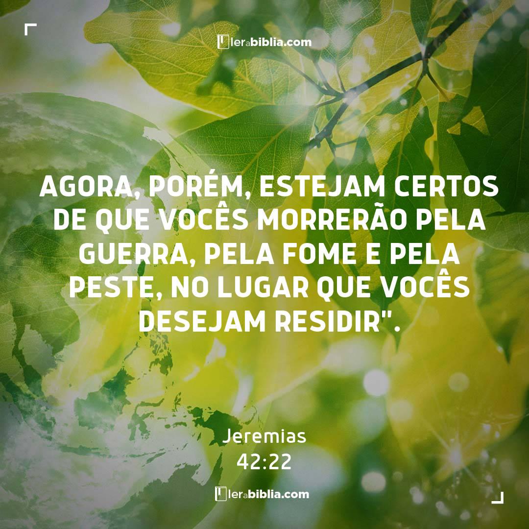 Jeremias - 42 - 22 - Agora