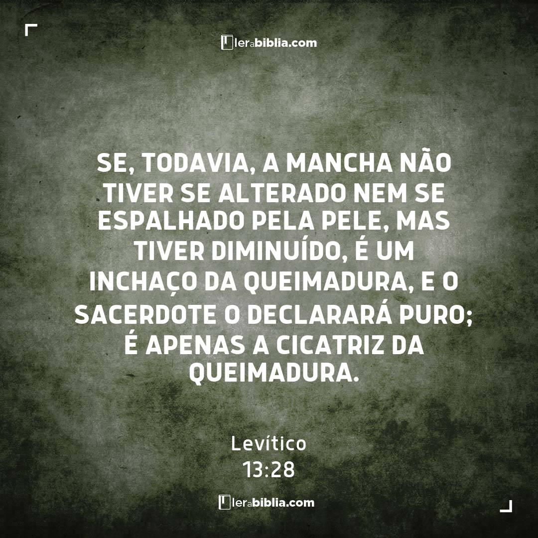 Levítico - 13 - 28 - Se