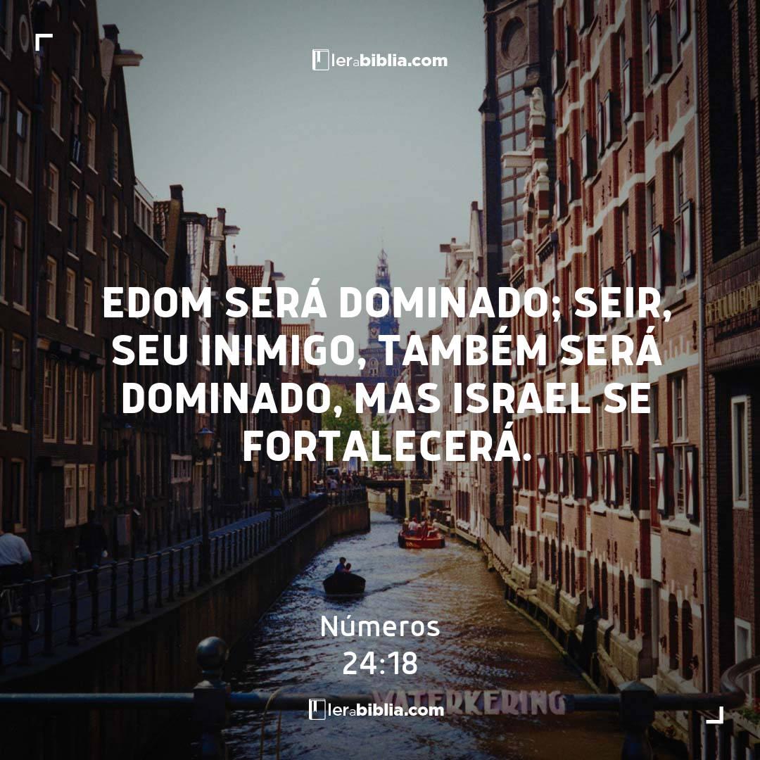 Números - 24 - 18 - Edom será dominado; Seir