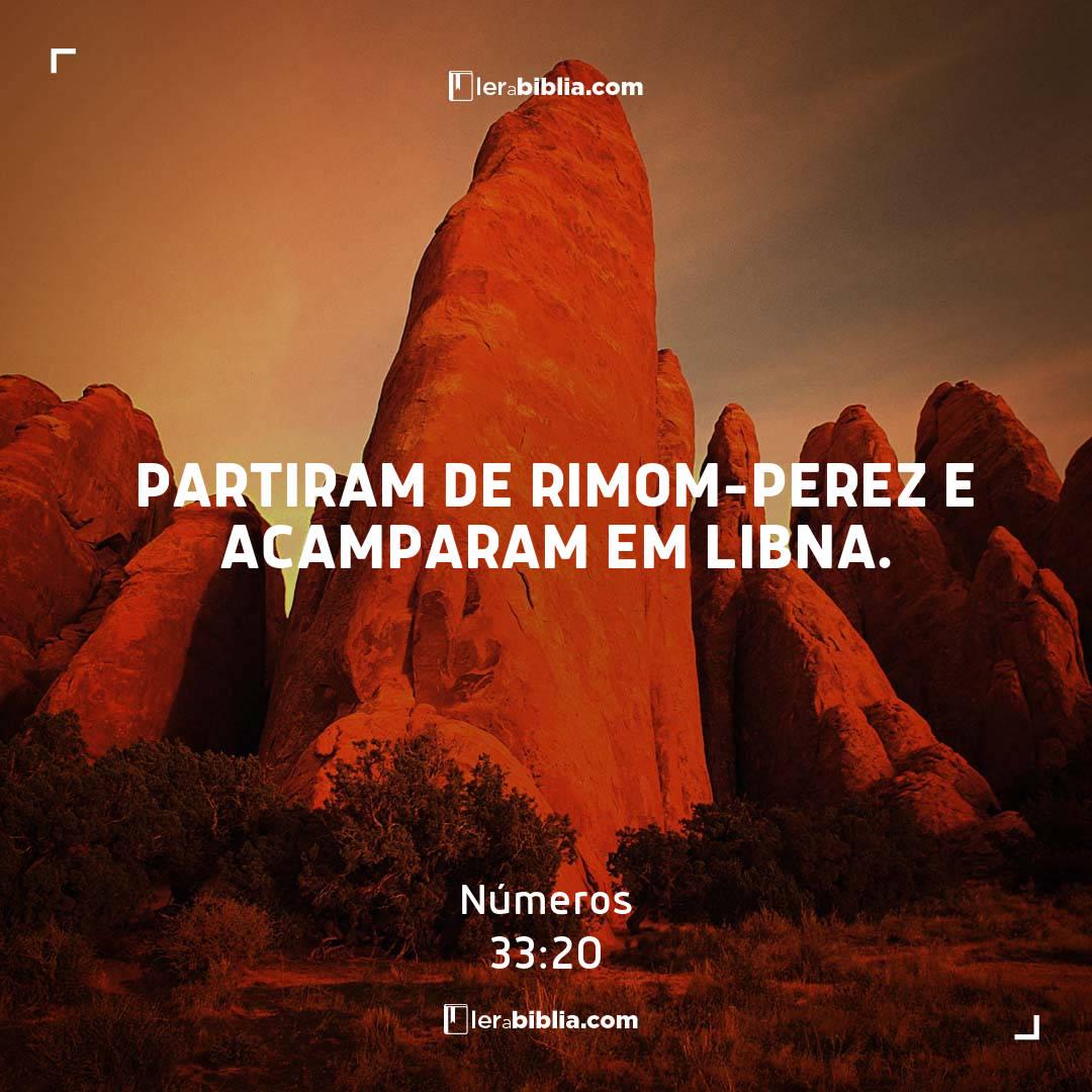 Read more about the article Partiram de Rimom-Perez e acamparam em Libna. – Números