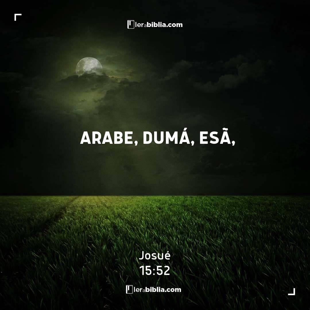 Arabe, Dumá, Esã, – Josué