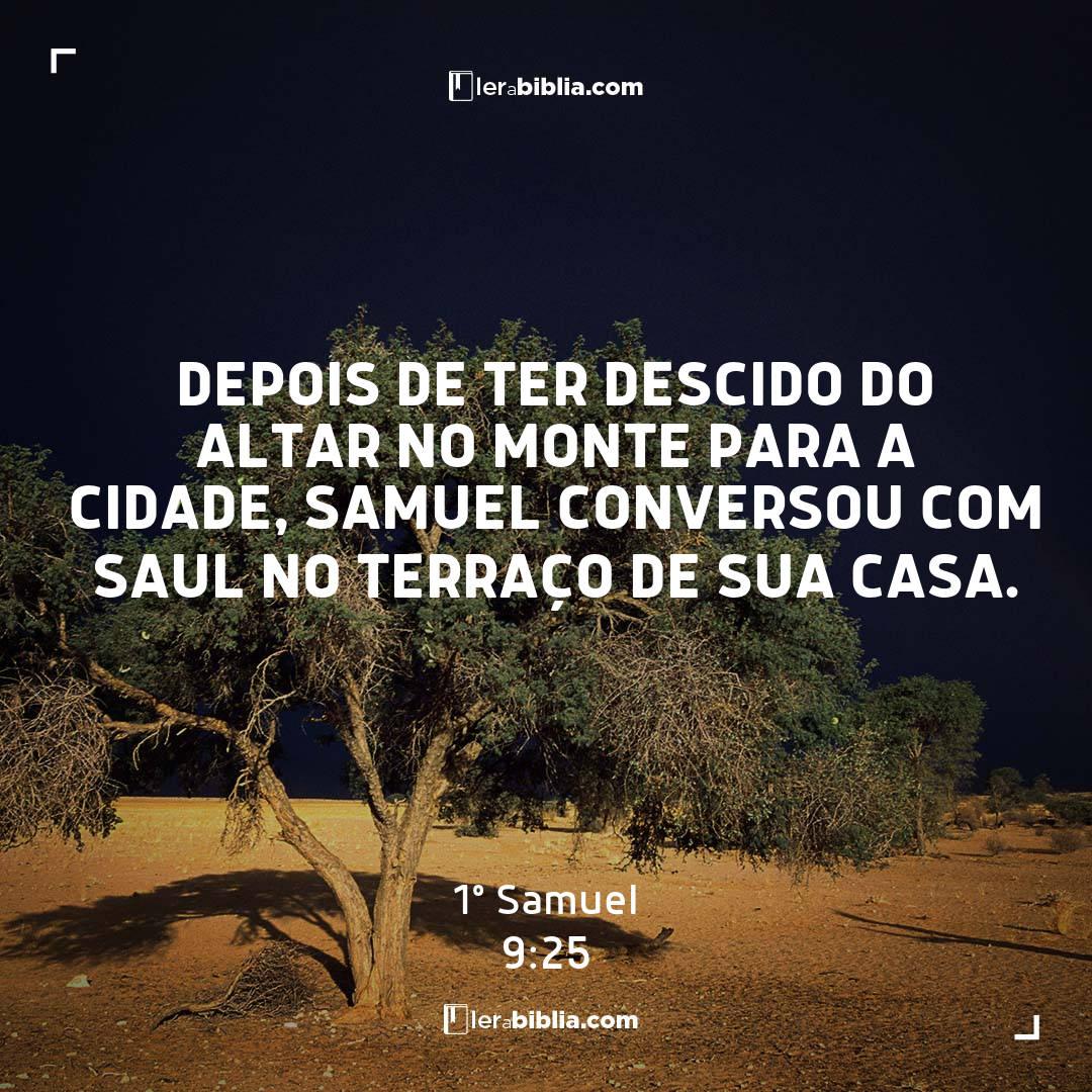 1º Samuel - 9 - 25 - Depois de ter descido do altar no monte para a cidade