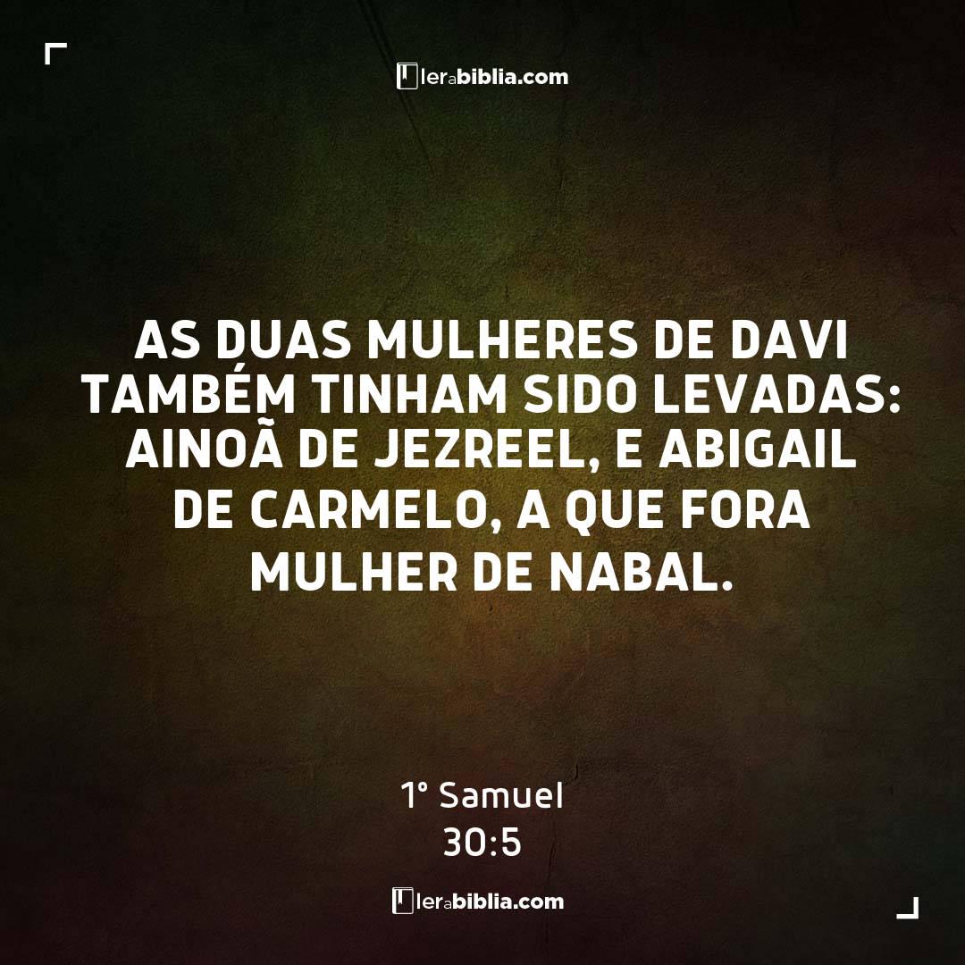 As duas mulheres de Davi também tinham sido levadas: Ainoã de Jezreel, e Abigail de Carmelo, a que fora mulher de Nabal. – 1º Samuel