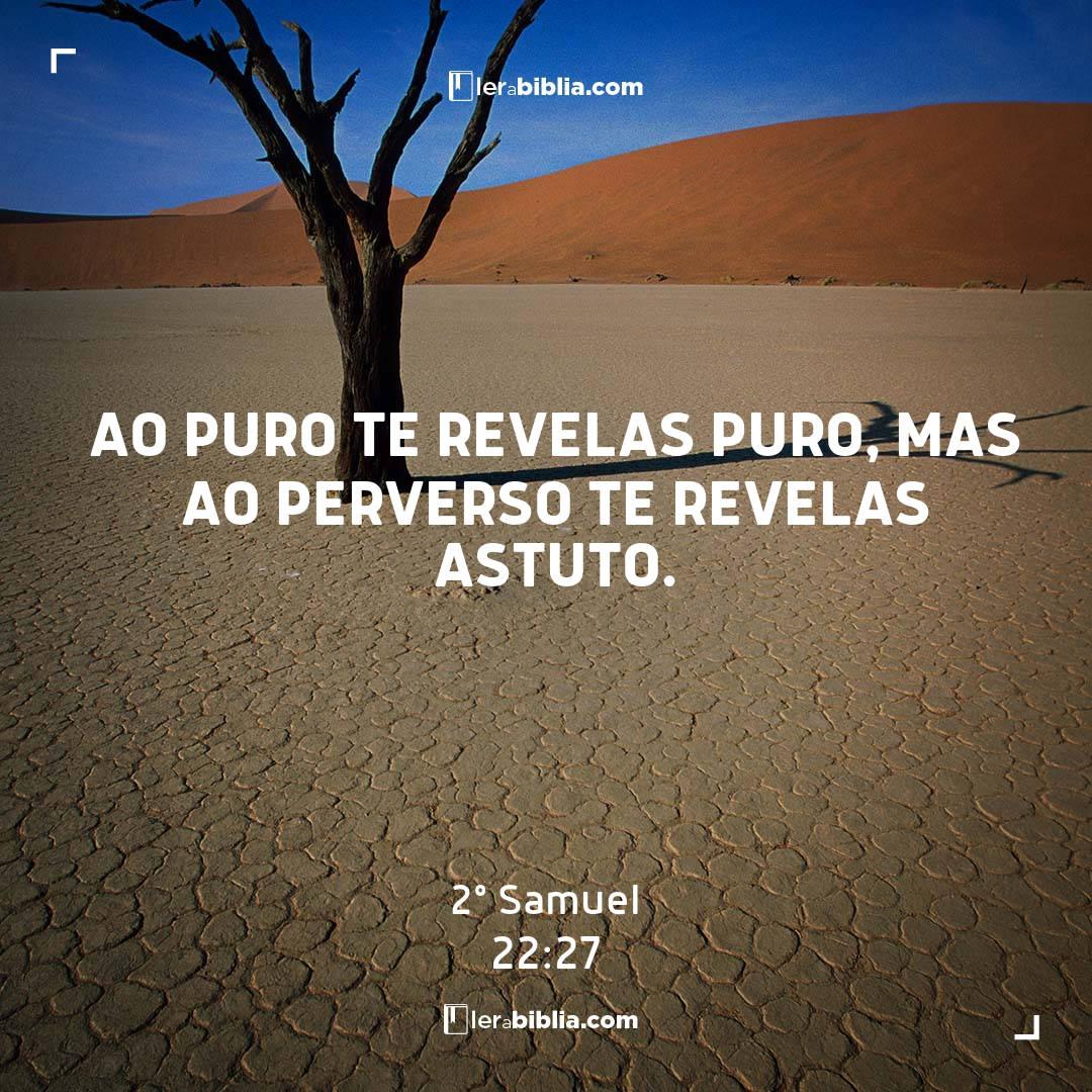 2º Samuel - 22 - 27 - ao puro te revelas puro