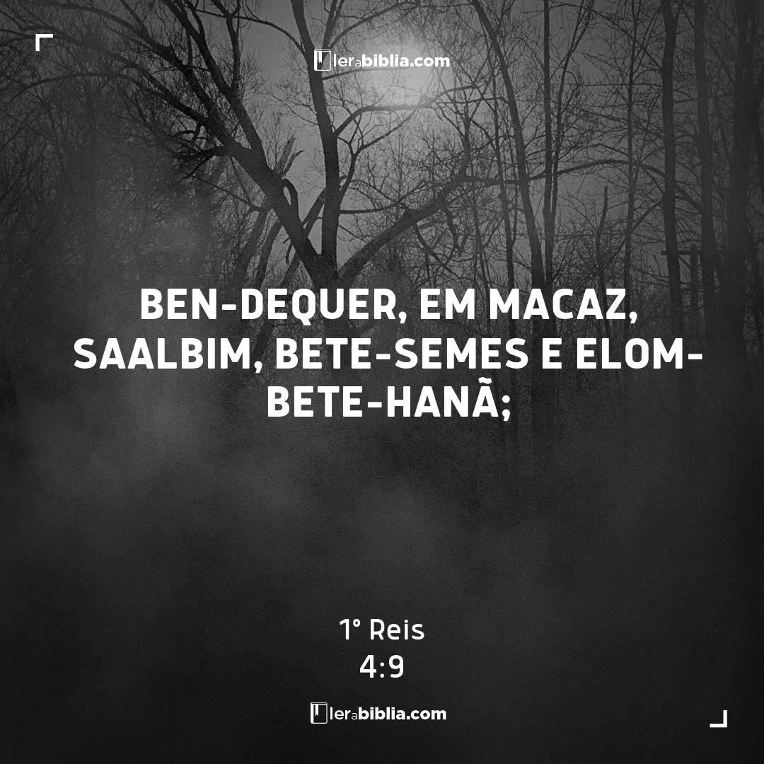 1º Reis - 4 - 9 - Ben-Dequer
